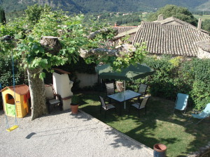 private garden to the gite la source in ardeche