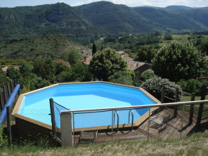 swiming pool in your rental holidays in ardeche